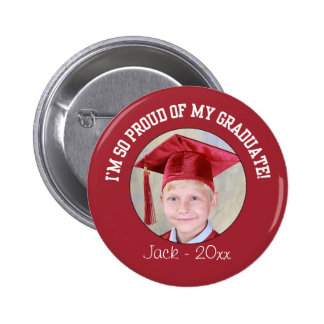 Proud Graduation Button - Red