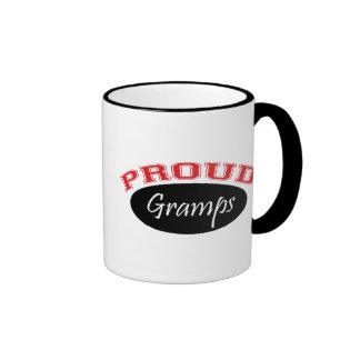Proud Gramps (Black and Red) Ringer Coffee Mug