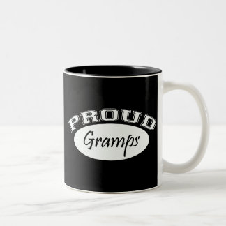 Proud Gramps (White) Two-Tone Coffee Mug