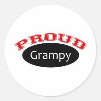 Proud Grampy Classic Round Sticker