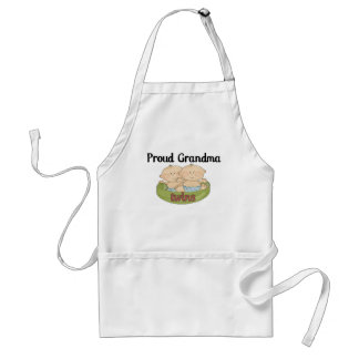 Proud Grand of Twins Adult Apron