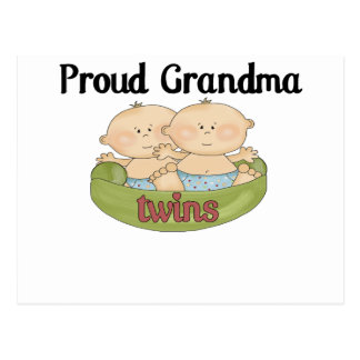 Proud Grand of Twins Postcard