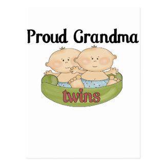 Proud Grand of Twins Postcard