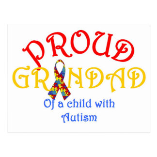 Proud Grandad of a Child with Autism Post Card