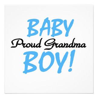 Proud Grandma Baby Boy Gifts Announcement