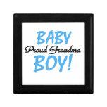 Proud Grandma Baby Boy Gifts Keepsake Boxes