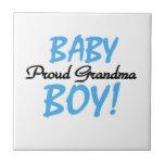 Proud Grandma Baby Boy Gifts Tile