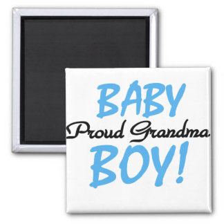 Proud Grandma Baby Boy T shirts and Gifts 2 Inch Square Magnet