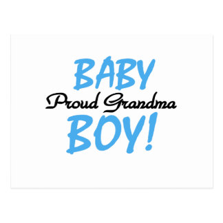Proud Grandma Baby Boy T shirts and Gifts Postcards
