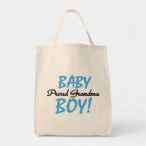 Proud Grandma Baby Boy T shirts and Gifts Tote Bag
