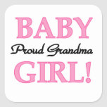 Proud Grandma Baby Girl Gifts Stickers