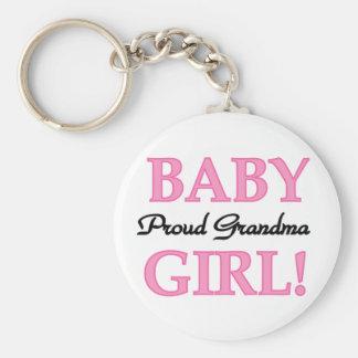Proud Grandma Baby Girl Tshirts and Gifts Keychain
