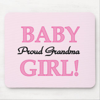 Proud Grandma Baby Girl Tshirts and Gifts Mouse Pad