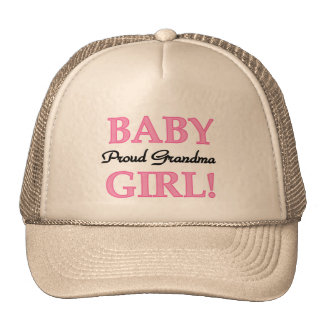 Proud Grandma Baby Girl Tshirts and Gifts Trucker Hat