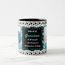 Proud Grandma Dalmatian Black and White Photo Two-Tone Coffee Mug