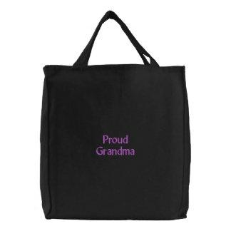 Proud Grandma Embroidered Bag