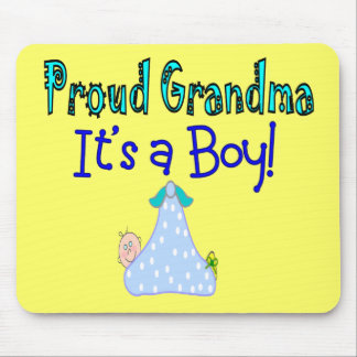 "Proud Grandma, ""It's a Boy!"" Gifts Mouse Pad"