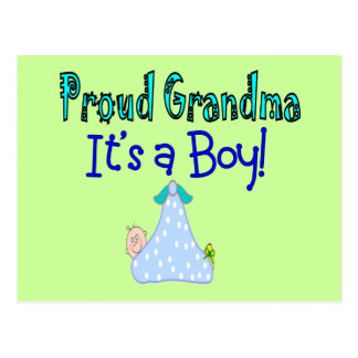 "Proud Grandma, ""It's a Boy!"" Gifts Post Card"