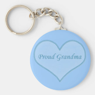 Proud Grandma Keychain, Blue Keychain