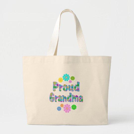 Proud Grandma Large Tote Bag