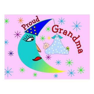 Proud Grandma New Baby Boy Postcard