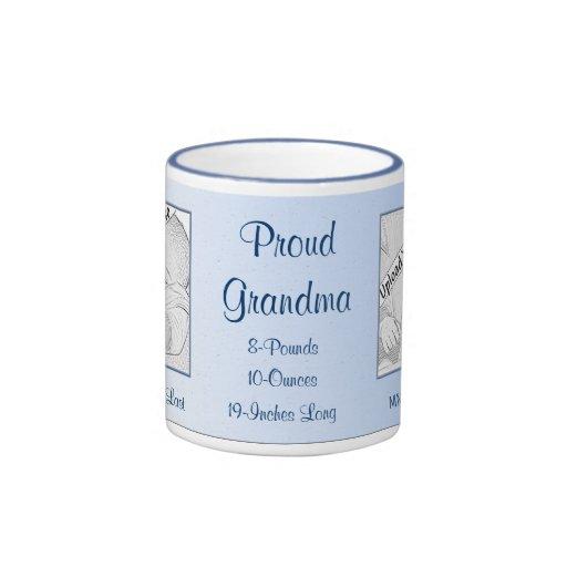 Proud Grandma New Baby Personalized Mug