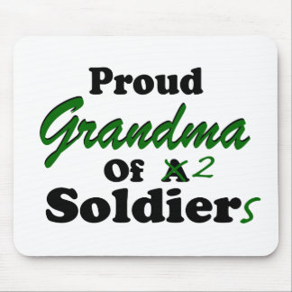 Proud Grandma Of 2 Soldiers Mouse Pad