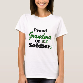 Proud Grandma Of 2 Soldiers T-Shirt