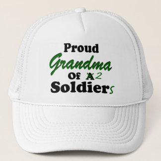 Proud Grandma Of 2 Soldiers Trucker Hat