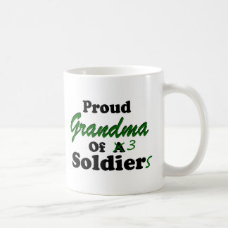 Proud Grandma Of 3 Soldiers Coffee Mug