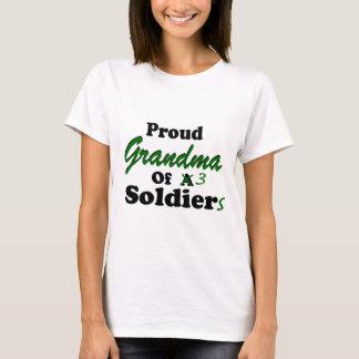 Proud Grandma Of 3 Soldiers T-Shirt