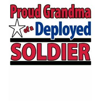 Proud Grandma of a Deployed Soldier Shirt w/ Name shirt