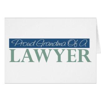 Proud Grandma Of A Lawyer Card