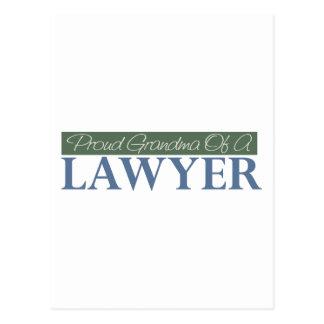 Proud Grandma Of A Lawyer (Green) Postcard