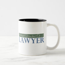 Proud Grandma Of A Lawyer (Green) Two-Tone Coffee Mug