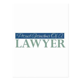 Proud Grandma Of A Lawyer Postcard