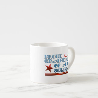 Proud Grandma of a Military Soldier Espresso Cup