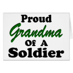 Proud Grandma Of A Soldier Greeting Cards