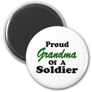 Proud Grandma Of A Soldier Magnets