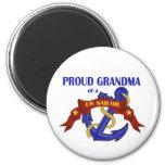 Proud Grandma of a US Sailor Magnets