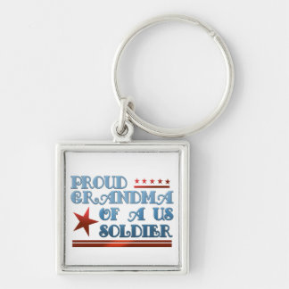 Proud Grandma of a US Soldier Key Chain