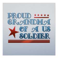 Proud Grandma of a US Soldier Posters