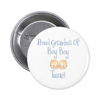 Proud Grandma of Boy Twins 2 Inch Round Button