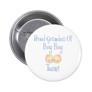 Proud Grandma of Boy Twins Pinback Button