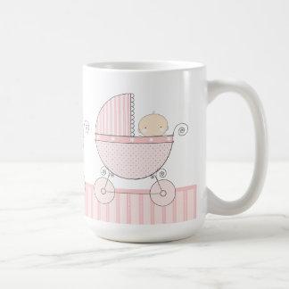 Proud Grandma of Twin Girls Baby Pink Carriage Coffee Mug