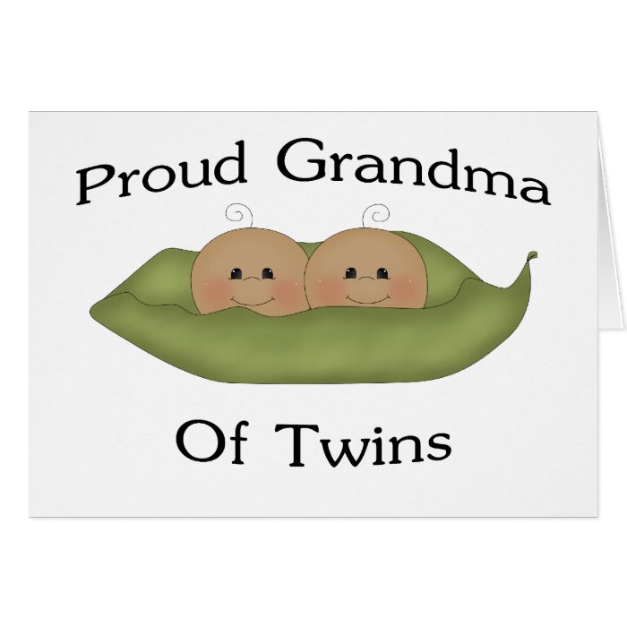 Proud Grandma Of Twins Card