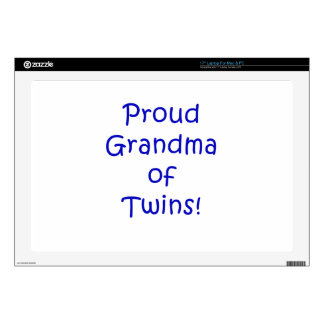 Proud Grandma of Twins Decals For Laptops