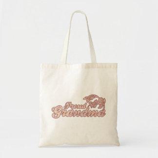 Proud Grandma Pink Flowers Bag