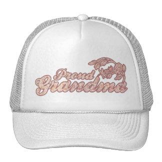 Proud Grandma Pink Flowers Hat
