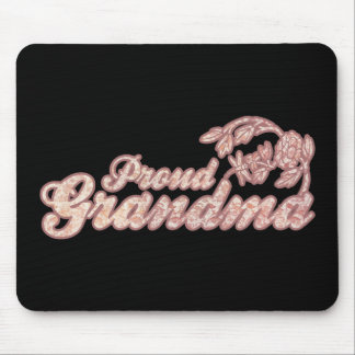 Proud Grandma Pink Flowers Mouse Pads